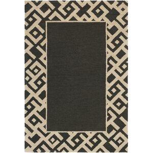 Congo Carson Hand-Tufted Black/Beige Area Rug