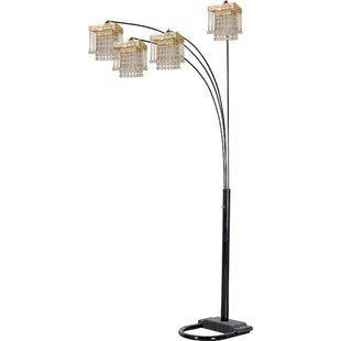 Enriquez 84 Modern Faux Crystal Tree Floor Lamp By House of Hampton