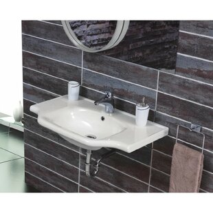 Read Reviews Yeni Klasik Ceramic 26 Wall Mount Bathroom Sink with Overflow By CeraStyle by Nameeks
