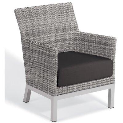 Brayden Studio Saleem Club Patio Chair with Cushions Cushion Color: Jet Black