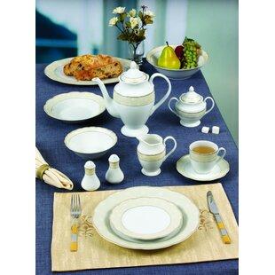 Wavy 57 Piece Dinnerware Set Service for 8