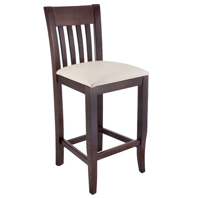 Jessee 24 Bar Stool Charlton Home Color: Walnut