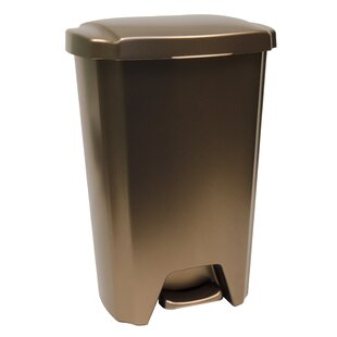 Plastic 12.5 Gallon Step On Trash Can (Set of 4)