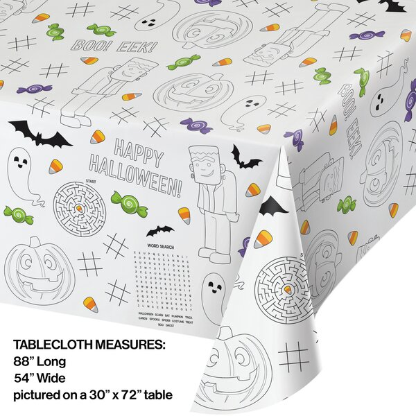 Creative Converting Halloween Activity Paper Disposable Tablecloth Wayfair
