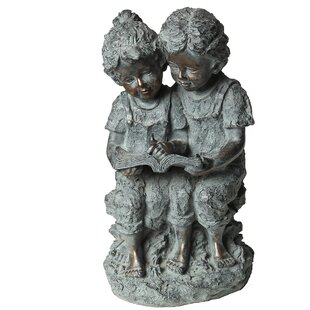 Redick Children With A Book Statue By Astoria Grand