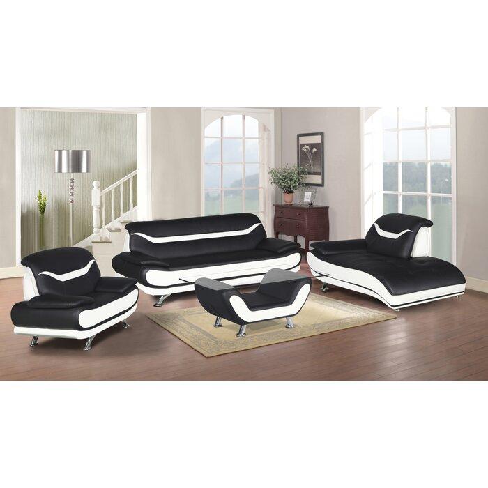 Orren Ellis Hamon 4 Piece Living Room Set | Wayfair