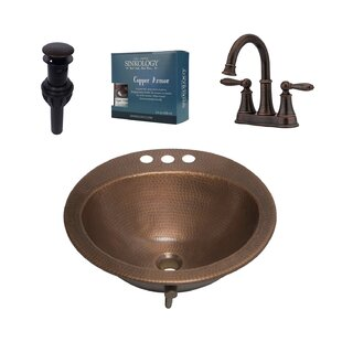 Sinkology Bell Metal Specialty Undermount Bathroom Sink with Faucet and Overflow