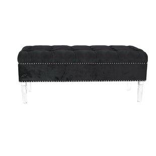 Oskar Modern Tufted Upholstered Storage Bench by Everly Quinn