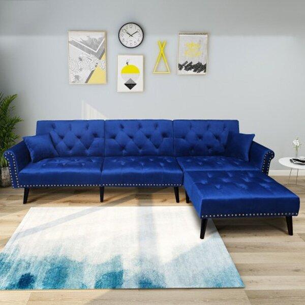 Awesome Indigo Blue Sectional Sofa Wayfair Pdpeps Interior Chair Design Pdpepsorg
