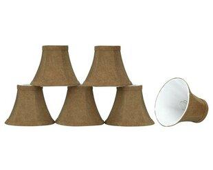 6 Linen Bell Candelabra Shade (Set of 6)