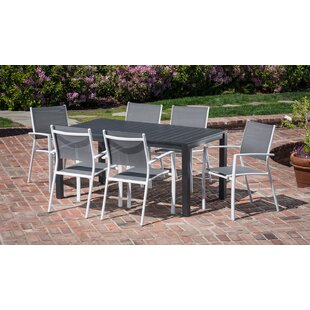 Latitude Run Ciaran 7 Piece Outdoor Patio Dining Set