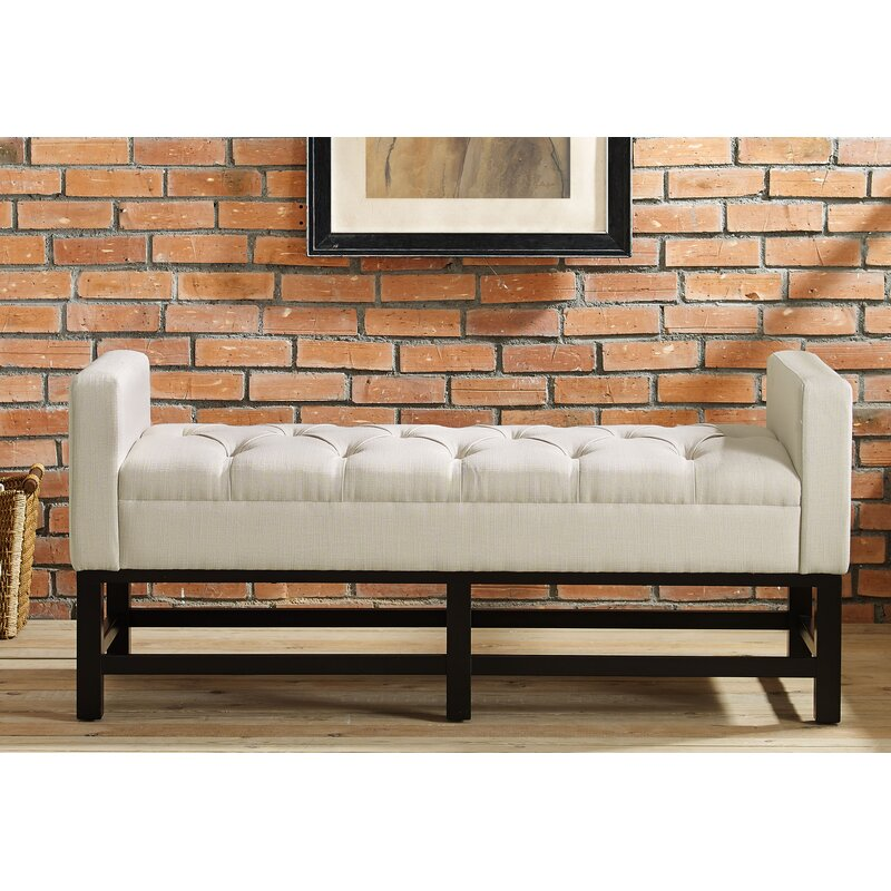 Andover Mills Phinney Upholstered Bench Reviews Wayfair