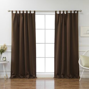 Bennett Basic Insulated Solid Blackout Thermal Tab Top Curtain Panels (Set of 2) by Alcott Hill