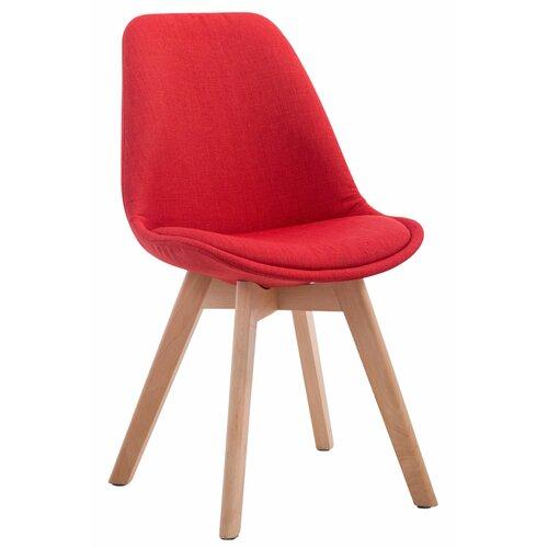 Besucherstuhl Shirly | Büro > Bürostühle und Sessel  > Besucherstühle | Rot | Stoff - Holz - Polyester | Norden Home