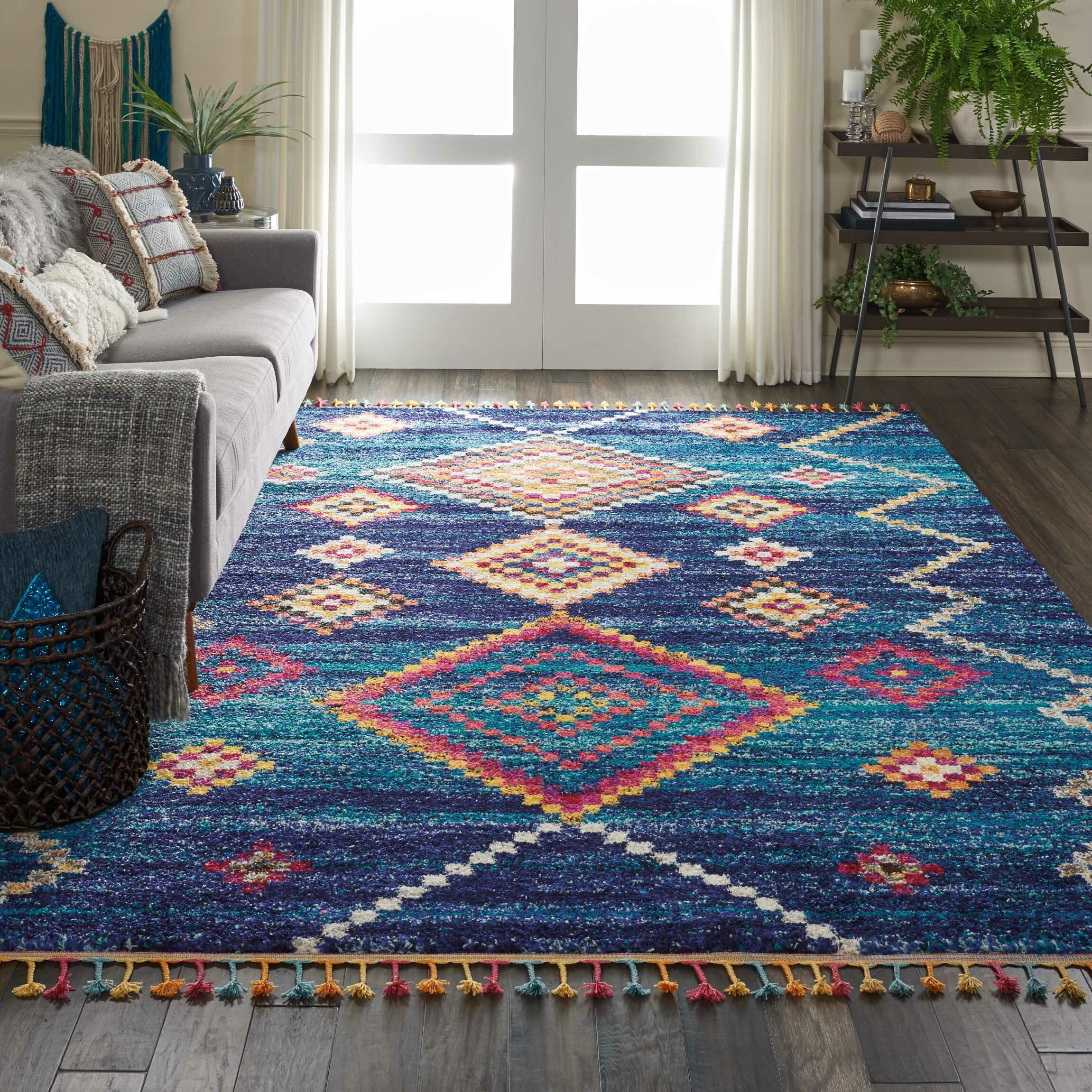 Mistana Baby Kids Wayne Southwestern Blue Orange Area Rug Reviews Wayfair