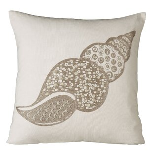 Autumn Shell Embellished Pillow Cover