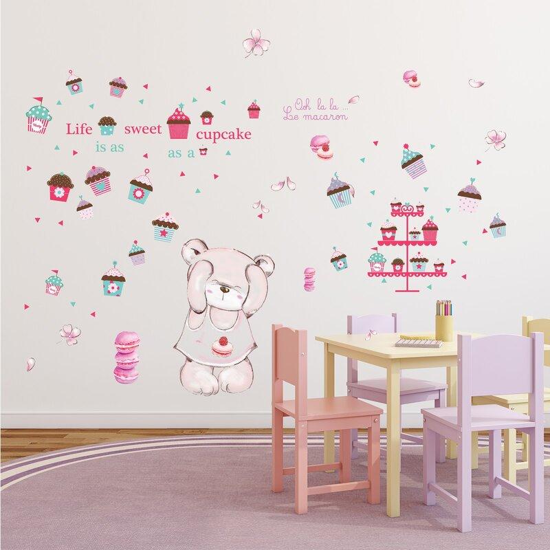 Hindsboro Macaron Bear Internal Nursery Wall Decal