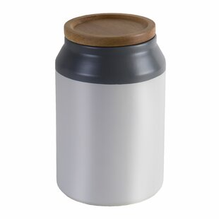 Food Ceramic Storage Jar with Wooden Lid