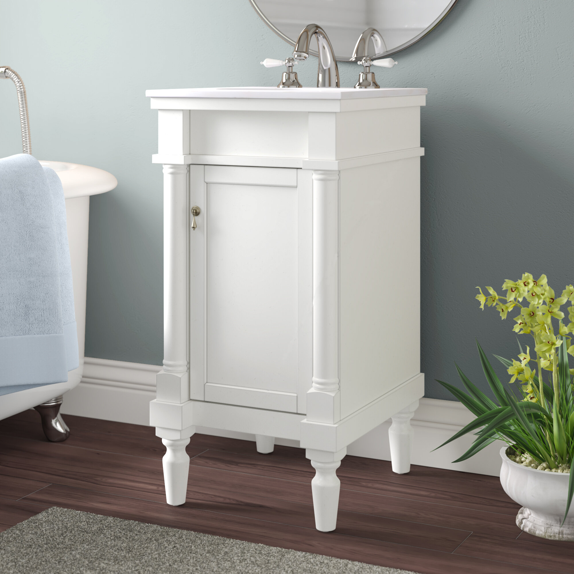Andover Mills Brantley 18 Single Bathroom Vanity Set Reviews Wayfair