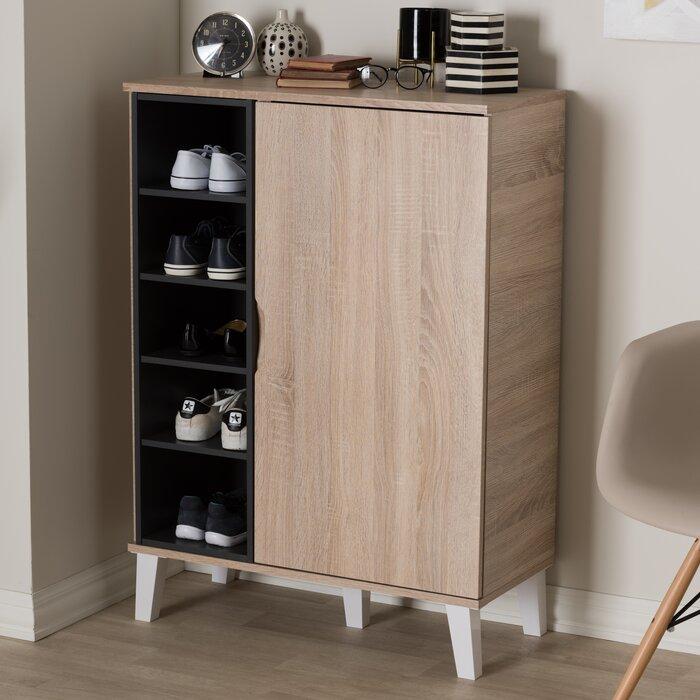 hd storage medium cupboard walnut shoe wood cabinet baxton p shirley brown studio
