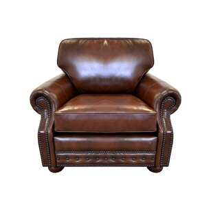 Middleton Genuine Top Grain Leather Club Chair by Westland and Birch