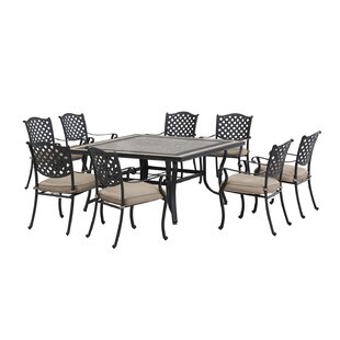 Schmidt 9 Piece Dining Set with cushions