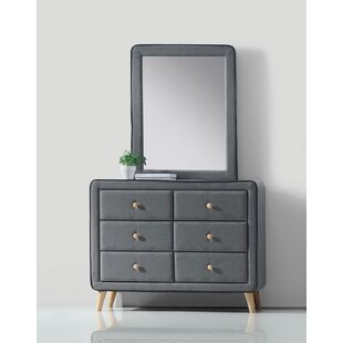 Minnesota 6 Drawer Double Dresser with Mirror