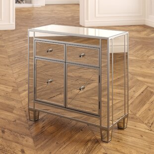 Check Prices Sagaponack Mirrored 2 Drawer Accent Cabinet By House of Hampton