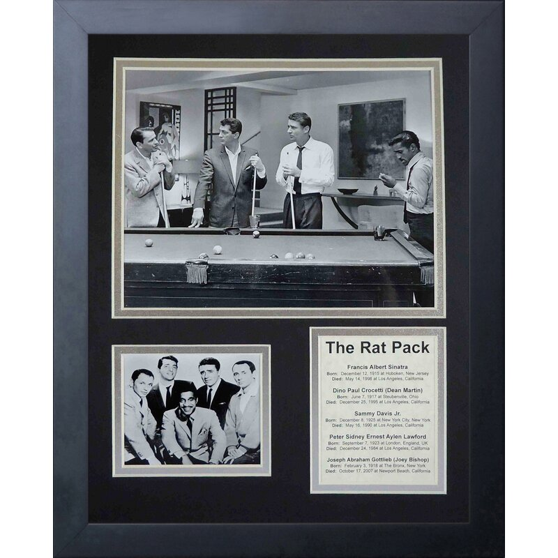 The Rat Pack Pool Framed Memorabilia