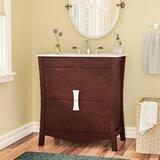 Karter Exquisite Floor Mount 30 Single Bathroom Vanity Set by Ebern Designs