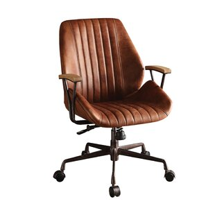 Compare Trace Genuine Leather Office Chair by 17 Stories Reviews (2019) & Buyer's Guide