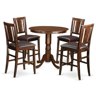Wooden Importers Jackson 5 Piece Counter Height Pub Table Set