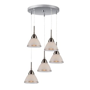 Lucia 5-Light Cascade Pendant by Woodbridge Lighting
