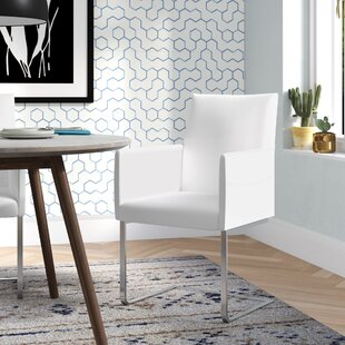 Ivory Genuine Leather Upholstered Dining ..