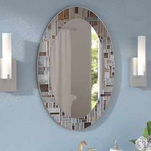 Zipcode Design Serenity Oval Deep Engravings Accent Wall Mirror