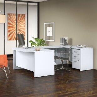 Bush Business Furniture Studio C 4 Piece U Shaped Desk Office Suite