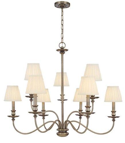 Hudson Valley Lighting Menlo Park 9 Light Shaded Classic Traditional Chandelier Perigold
