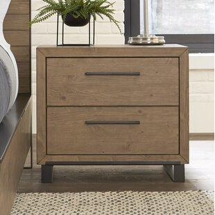 Crestline 2 Drawer Nightstand