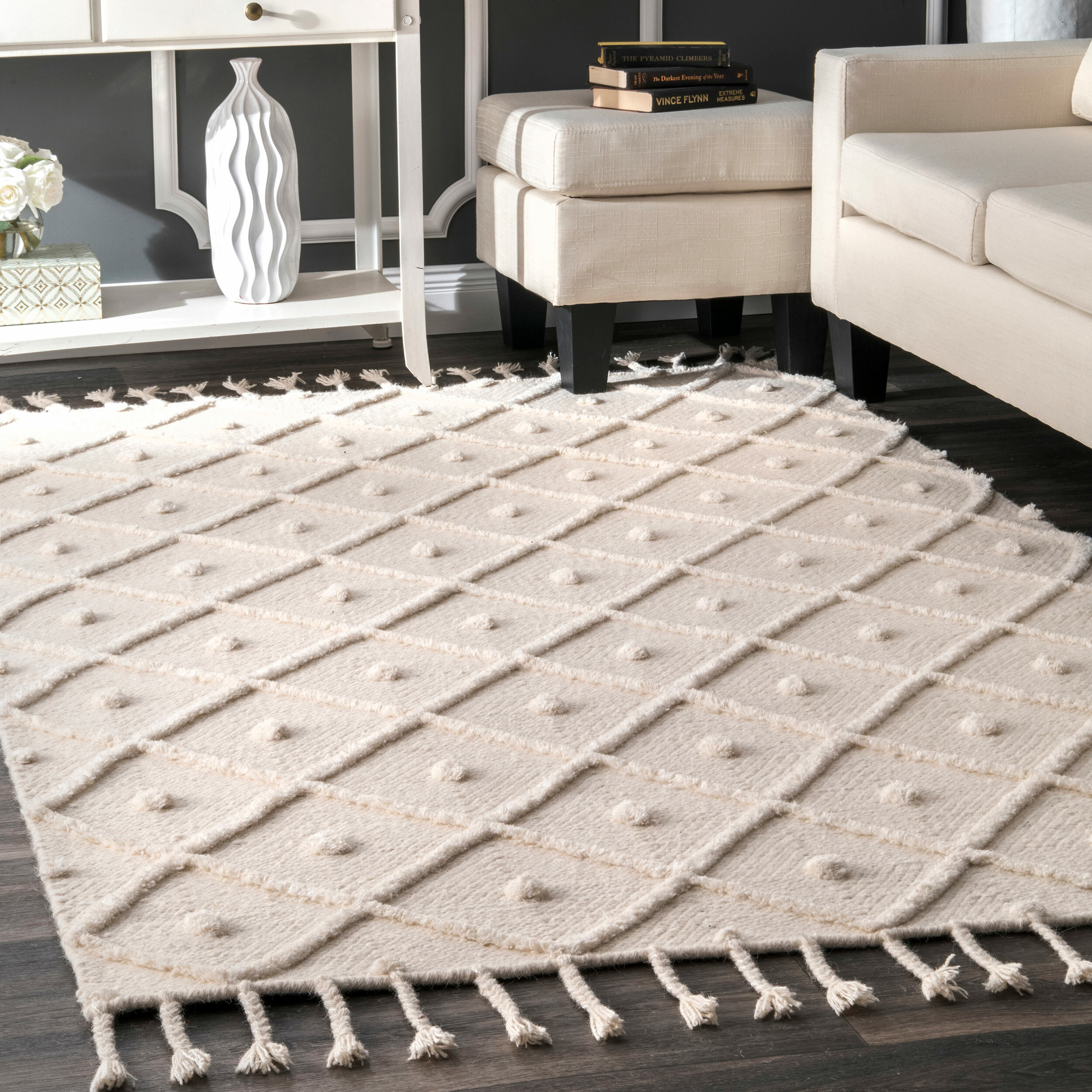 Union Rustic Whigham Hand Woven Off White Area Rug Reviews Wayfair