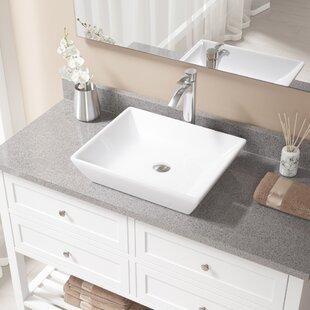 Shopping for Vitreous China Rectangular Vessel Bathroom Sink with Faucet By MR Direct