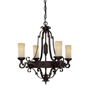 Fleur De Lis Living Byrd 4-Light Shaded Chandelier