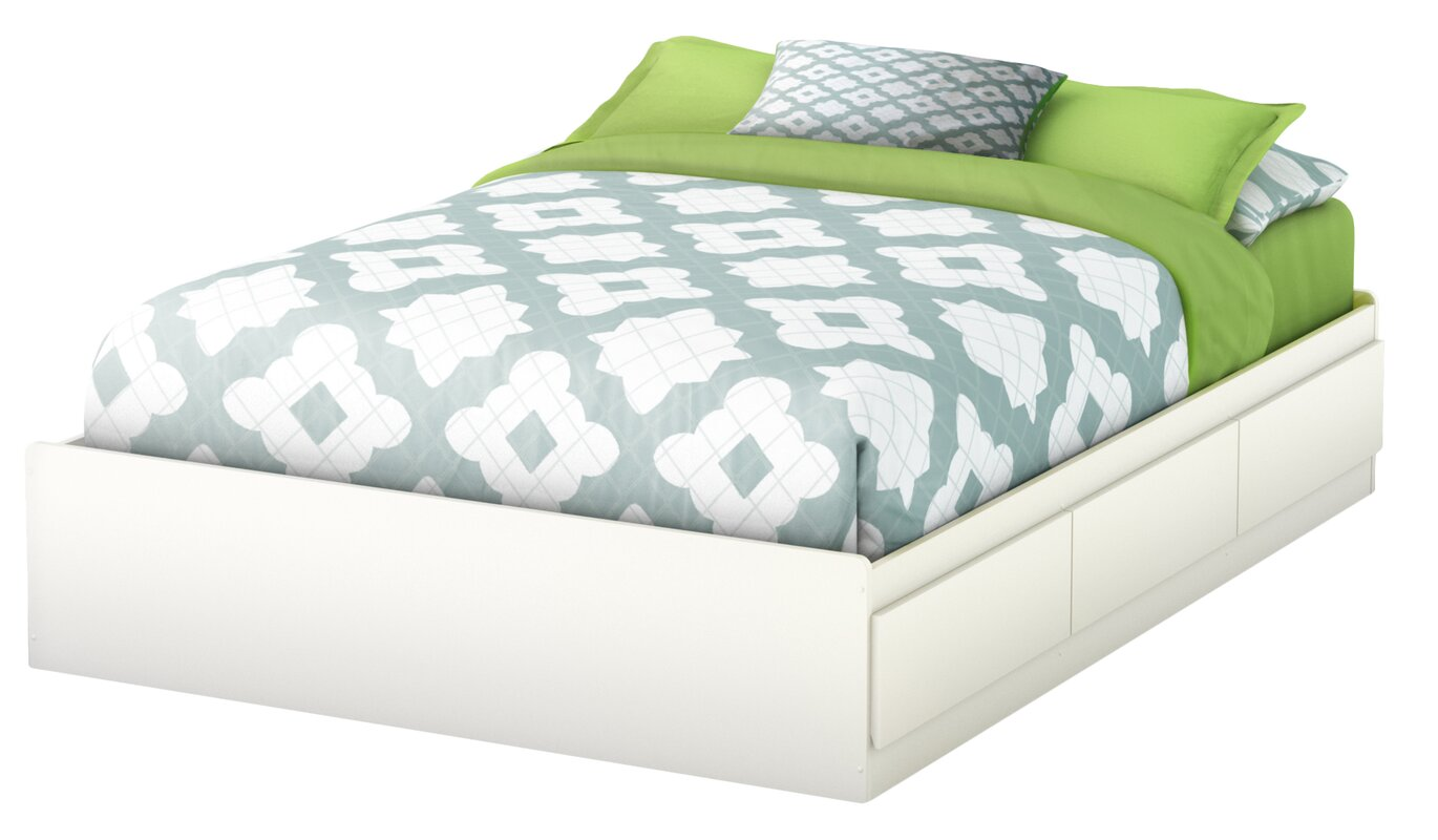 South Shore Step One Full/Double Storage Platform Bed & Reviews ...