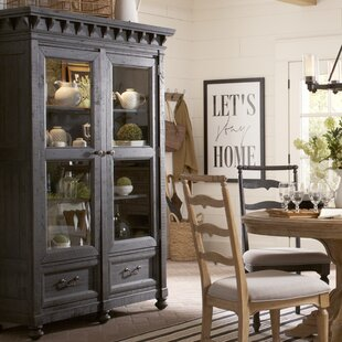 Gracie Oaks Alona Lighted China Cabinet