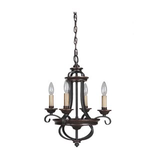 Astoria Grand Westerfield 4-Light Candle style Chandelier