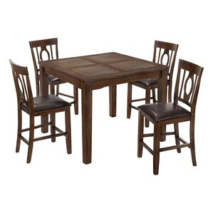 Chartre 5 Piece Dining Set by Loon Peak