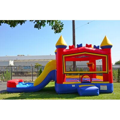 13u0027 x 24u0027 athletic rainbow cloud wet dry combo bounce house - Inflatable Bounce House