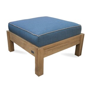 August Grove Chasity Teak Ottoman with Su..