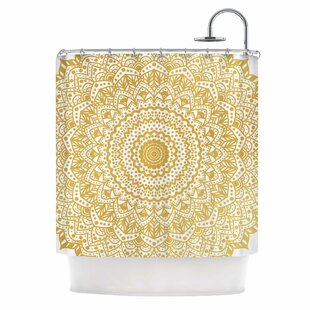 'Boheme Dream Mandala' Illustration Single Shower Curtain