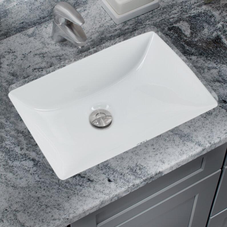 Rectangular Undermount Bathroom Sink