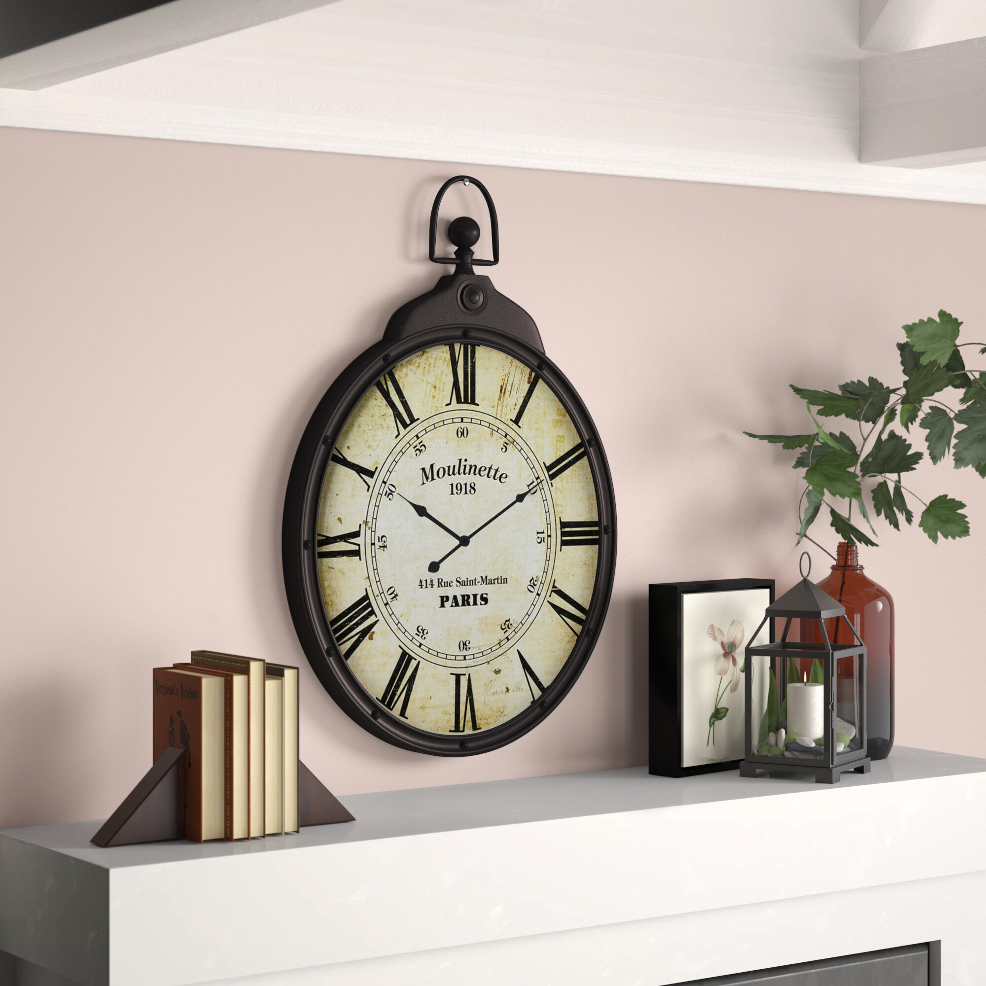 Gracie Oaks Sumpter Wall Clock Reviews Wayfair